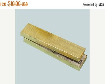 Summer Sale 20 Pack of Gold Foil Swirl Cotton Filled Jewelry Gift Boxes 8 X 2 X 1 Inch Size Great Packaging and Displays