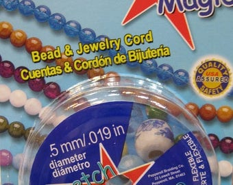 ON SALE Clear Stretch Magic Cord Bead and Jewelry Cord  .5mm 32 ft