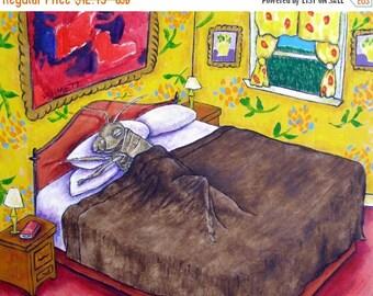20 % off storewide Grasshopper art PRINT poster gift JSCHMETZ modern folk bedroom