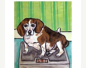 20% off Beagle on a Diet Dog Art Print