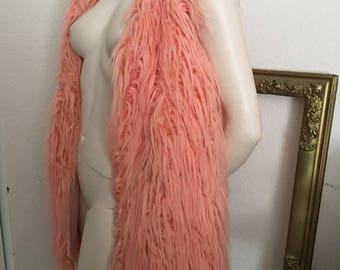 Vintahe Pink Faux Fur Mongolian Lamb Vest M/L