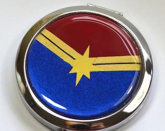 Carol Corps Captain Marvel Logo Carol Danvers Compact Mirror