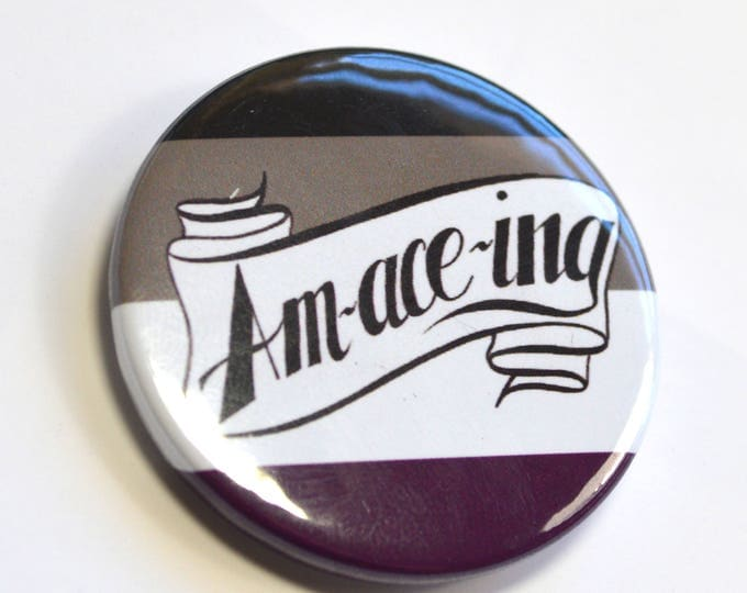 Amaceing Asexual Queer Ace Pride Badge Pinback Button