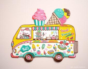 Ice Cream Truck XXL Back Patch