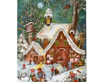 Advent Calendar Germany Christmas Village Children   #48