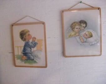 Vintage  8 X 10 Wall Prints Child's Room. By Constanza