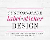 Custom label design  label graphic digital graphic design for sew-in labels tags winchester lambourne sew in label design