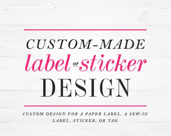 Custom label design  label graphic digital graphic design for sew-in labels tags winchester lambourne sew in label design