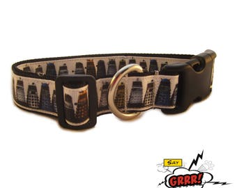 Dalek attack! Doctor Who Inspired-dog collar