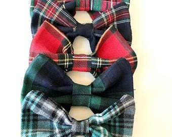 The TARTAN BOW- Hair clips  for the Holidays