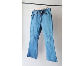 1970s Levi's Orange Tab Bell Bottom Denim Jeans USA