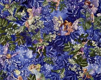 Night Flower Fairies Allover Fairies Nite Purple Color ~ Michael Miller Fabrics