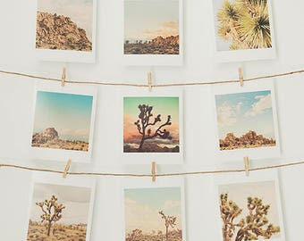 Joshua Tree print set, desert photography, California gift set, mini prints, Joshua Tree photos, nursery decor, dorm decor, Myan Soffia