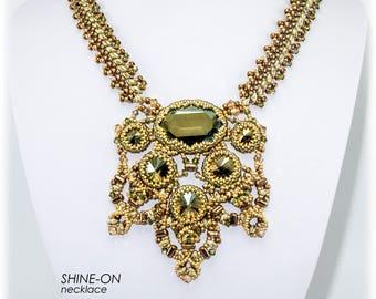 SHINE-ON Necklace with Beautiful center piece Pendant Beadwork KIT