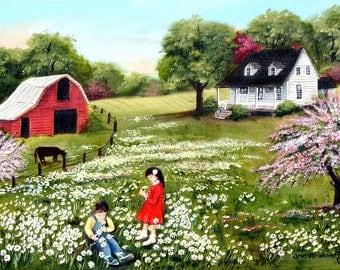 Folk Art Prints Original Oil Paintings Watercolor By Jagartist