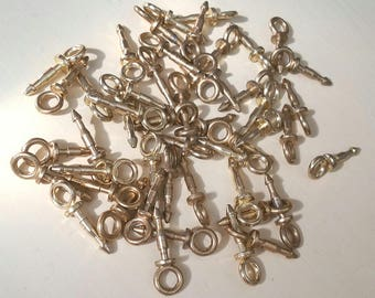 Lot of brass flex frame pins with loops