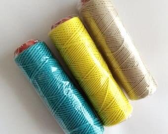 Waxed Irish Linen Thread- 4 ply-Full Spoon- 109 yard-100 mt