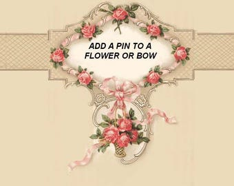 Add a PIN to your FLOWER or BOW
