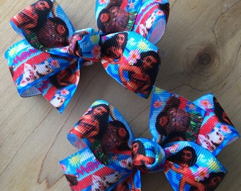 Moana Hair Bow - BLUE, Moana, Moana Party, Moana Birthday, Moana bow, Moana Birthday Party, Moana Party Favor, Moana Loot bags