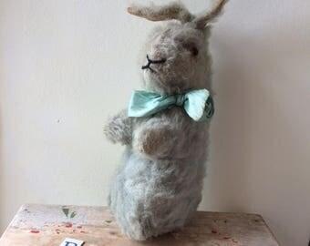 Mr Blue ~ Vintage Mohair Rabbit Merrythought? Farnell? RESERVED for Carol