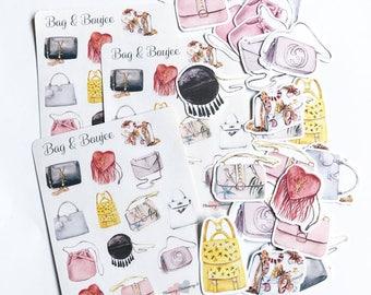 Planner Stickers Bags Gucci Louis Vuitton Yves Birkin