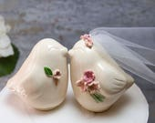 Love Birds with Bouquet and Matching Boutonnière
