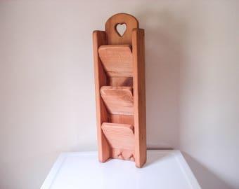Vintage wood letter sorter - cottage vibe