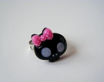 Ring - Skull - black