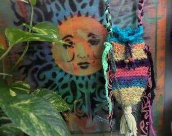 Cross body bag, cross body purse, boho pouch, D98, Hippie pouch, Festival pouch, Hippie Festival, Faerie purse, woodland pouch, phone purse