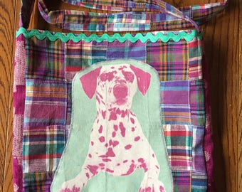 Dalmation dog tshirt bag