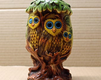 Piggy Bank Hand Painted Personalized Dena Owl
