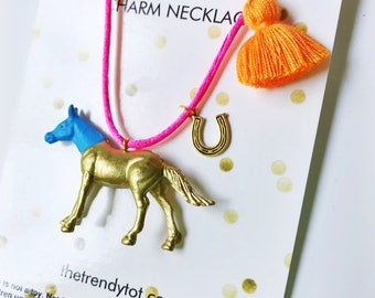 Kids Horse Necklace. Horse Necklace. Girls Horse Necklace. Kids Necklace. Girls Necklace. Horse Jewelry. Girl Jewelry. Horse Lover Gift.