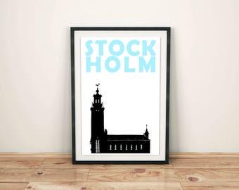 Stockholm Print // Scandinavian Print // Sweden Poster // Swedish Art // Swedish Gift // Scandinavian Art // Stockholm Poster // Travel Gift