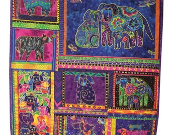 Wall Hanging Quilt in Laurel Burch Bright Dogs