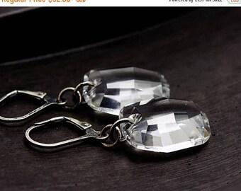 Crystal Earrings, Swarovski Crystal, Crystal Jewelry, Dangle Earrings, Crystal Nuggets