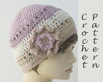 Caron Cakes Cotton Hat Pattern, Women's Flower Hat Crochet Pattern,  Instant Download, Easy Quick PDF Pattern