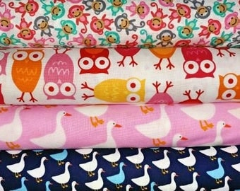 Zoologie Min Animals Collection  R Kaufman Cotton Quilt Fabric~Yards crafting quilting sewing fabrics