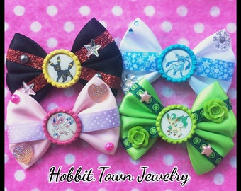 Pokemon Eevee Evolutions Sylveon Umbreon Gamer Hair Bows