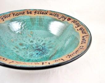 9 year wedding anniversary, 9th Anniversary gift, Anniversary gift idea, pottery anniversary serving bowl - In stock 144 WB