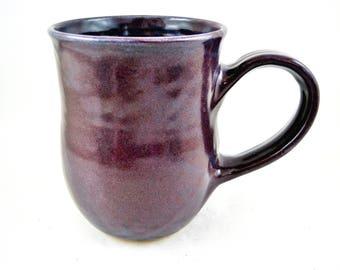 Large Purple mug, handmade pottery mug, ceramic coffee mug, 22 oz, gift for her - In stock