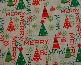 Be Merry Fabric, Christmas Words Fabric, Words Fabric, RTC Fabrics, Christmas Fabric, Holiday Quilting, Stocking Fabric, Novelty Fabric