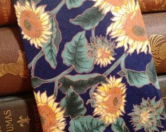 Vintage Surrey Necktie - Sunflower floral design - Free U.S. Shipping