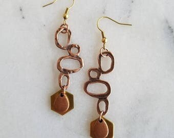 50%OFF Modern Mixed Metals Geometric Earrings