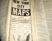 Vintage Black and White New York ity Map for Crafting
