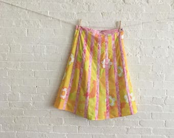 Orange and Candy / bias skirt / on Sale