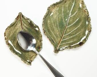 Leaf Set - Spoon Rest - Soap Dish - Trinket Trays - Tea Bag Rest