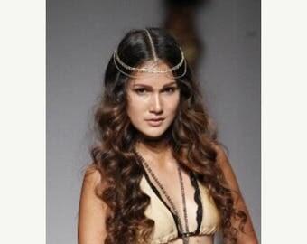 SUMMER SALE CHAIN Headpiece- chain headdress - head chain - headchain - hair chain