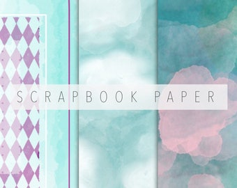 Digital scrabooking paper, set of 3 digital papers, scrapbook paper, instant download, photobook backgrounds