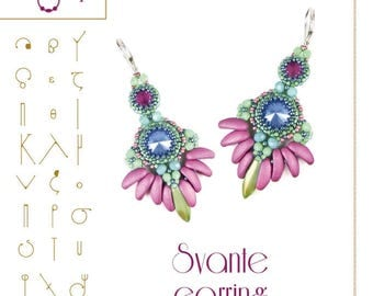 Beading tutorial / pattern Svante earrings Beading instruction in PDF – for personal use only