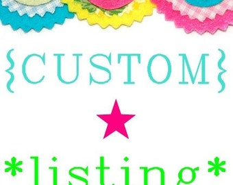Custom listing for Kajsa
